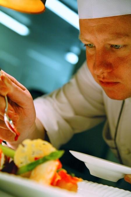 Chef Yoann Bernard at work I