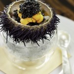 Waku Ghin - Marinated Botan Shrimp with Sea Urchin and Caviar